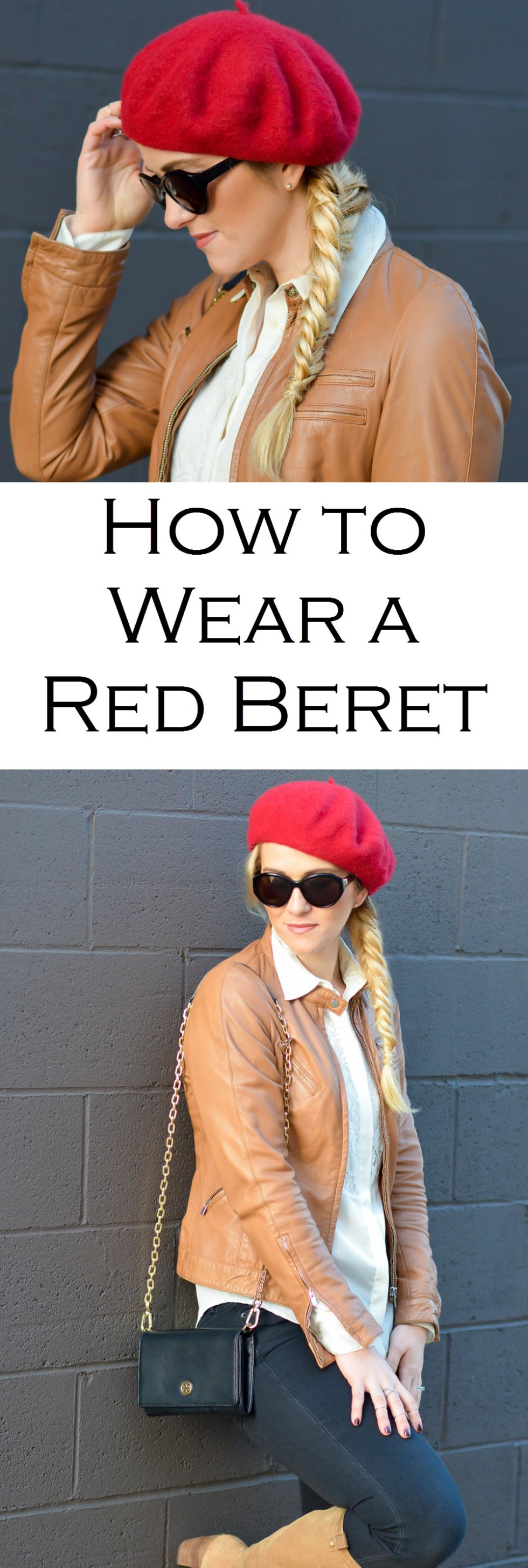 How to Wear a Red Beret w. Fishtail Braid