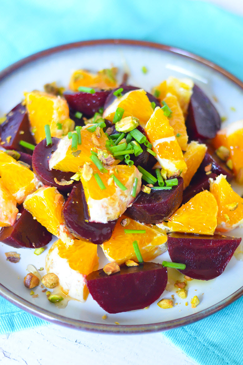 Fresh Orange Salad w. Baby Beets