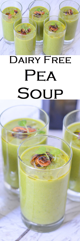 Dairy Free Pea Soup without Ham - Vegan, Healthy. #LMrecipes #soup #peas #vegan #plantbased #healthy #dairyfree #foodblog #foodblogger #recipe