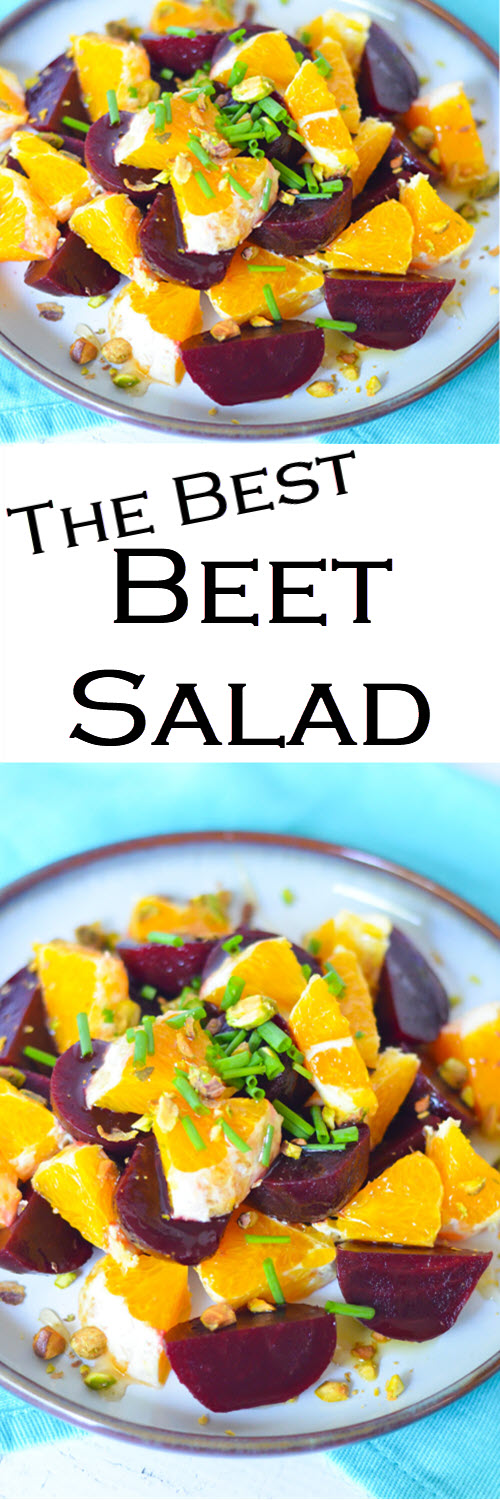 The best Beet Salad w. Oranges. A delicious and fresh Winter Salad to serve as a <a href=