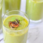 Quick + Easy Peas Soup Shooters without Ham - Vegan, Healthy