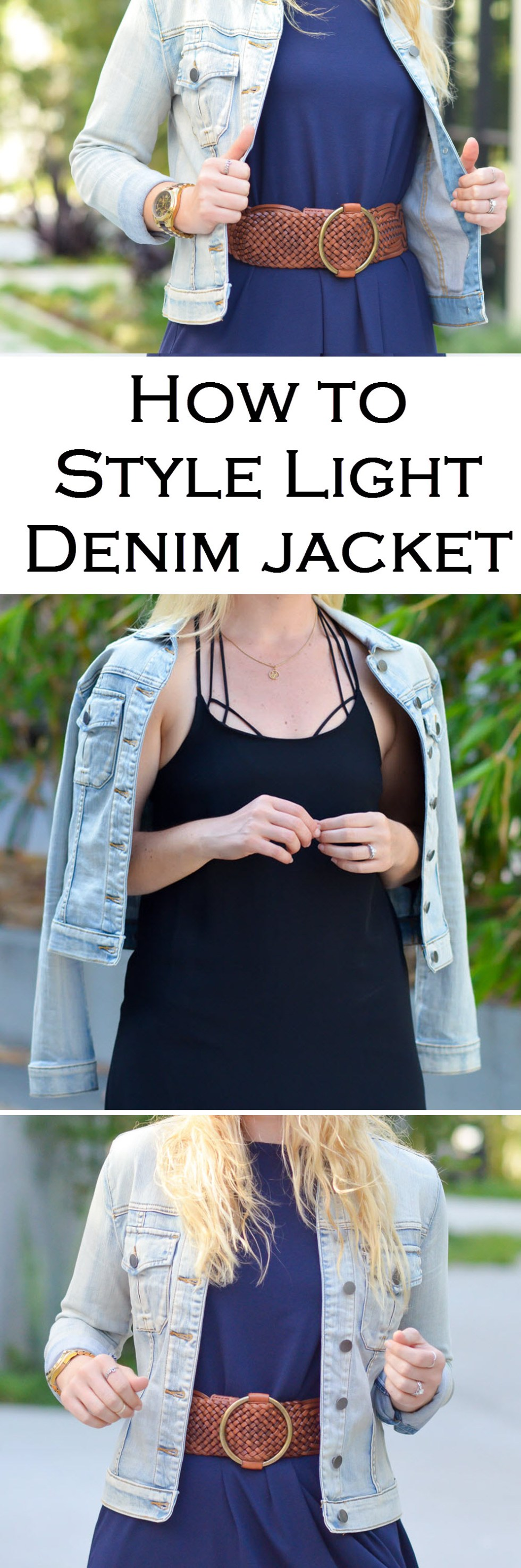 How to Style Faded Light Denim Jean Jacket. Outfit ideas for jean jacket in spring and summer!