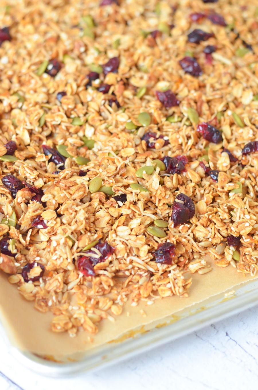 Coconut Sesame Seed Granola Recipe