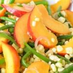 Green Bean, Corn, + Peach Salad