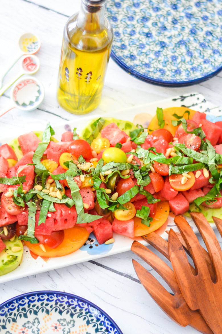9 Healthy Summer Salads featuring Seasonal Produce - Fruits + Vegetables