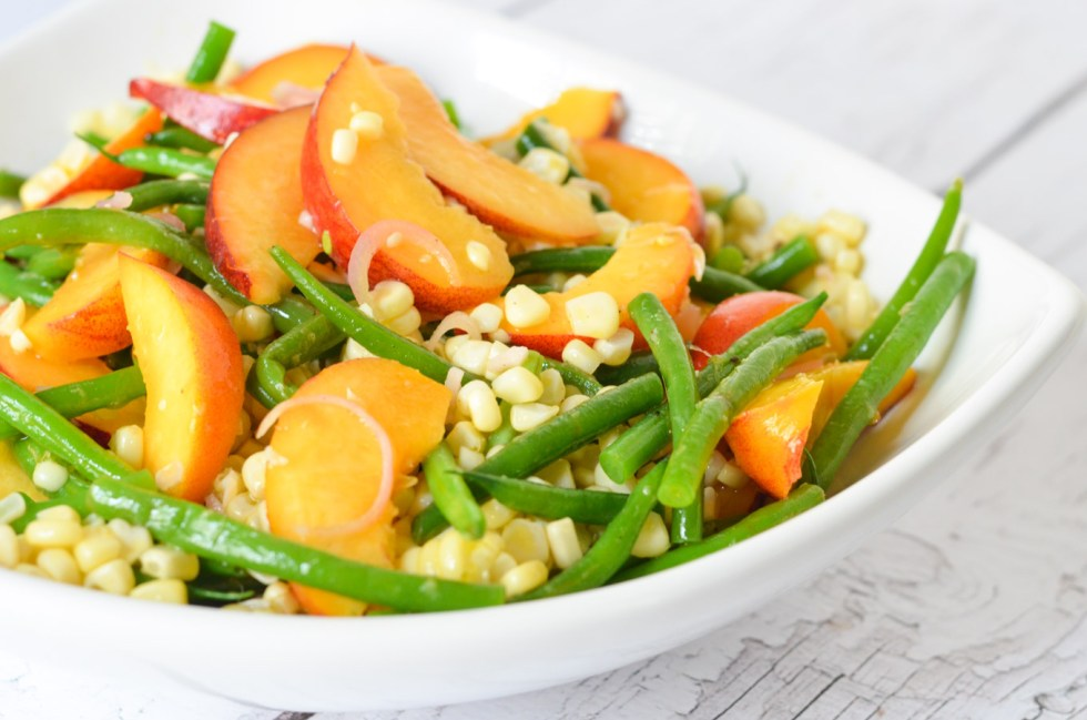 9 Healthy Summer Salads | Green Bean, Peach, Corn Salad with Summer Fruits and Vegetables