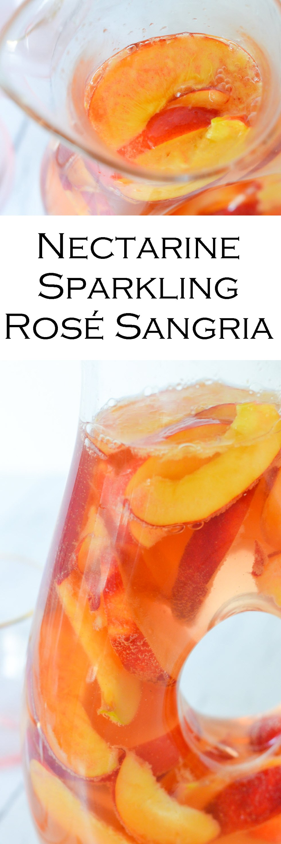 Nectarine Sparkling Rose Sangria w. Ginger + Orange Liqueur
