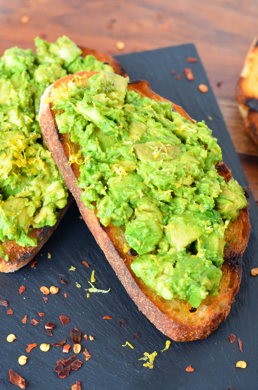 BBQ Grilled Avocado Toast - Avocado on Spicy Grilled Bread