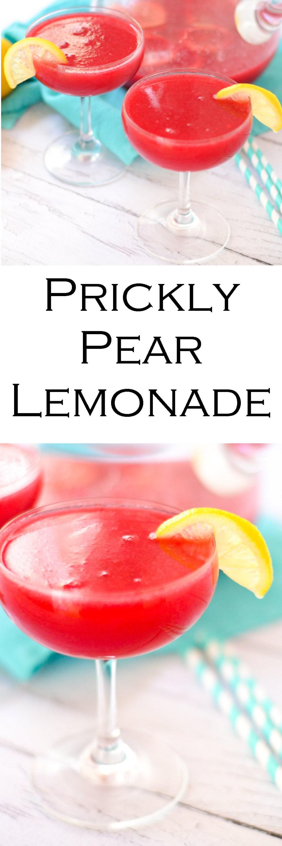 Prickly Pear Lemonade Recipe Made w. Cactus Pears