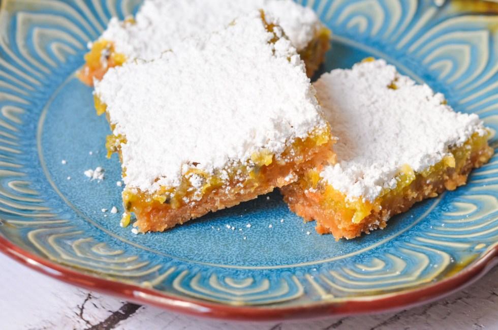 Passion Fruit Bars w. Graham Cracker Crust