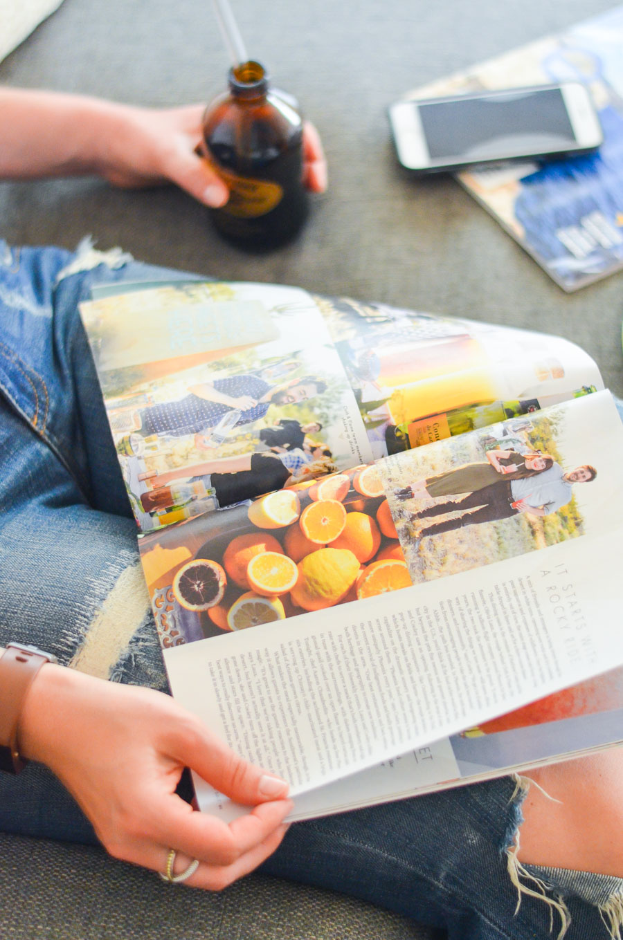 Relaxing Weekend Morning on the Couch w. Magazines