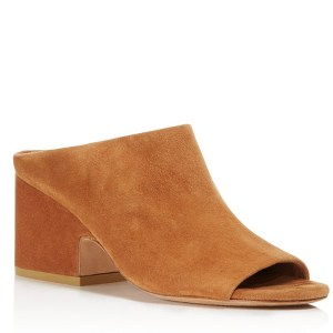 Tan Suede Vince Mules