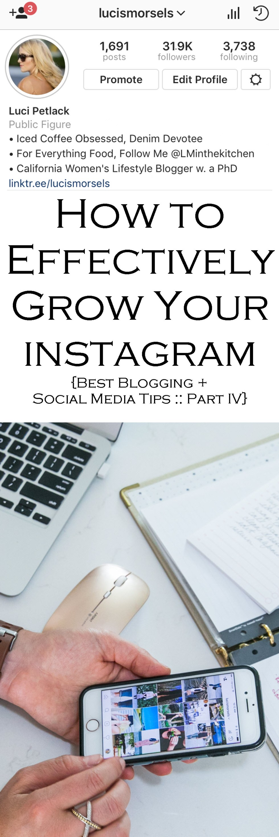 Blogging Tips Series - How to Grow Your Instagram Followers and Engagement