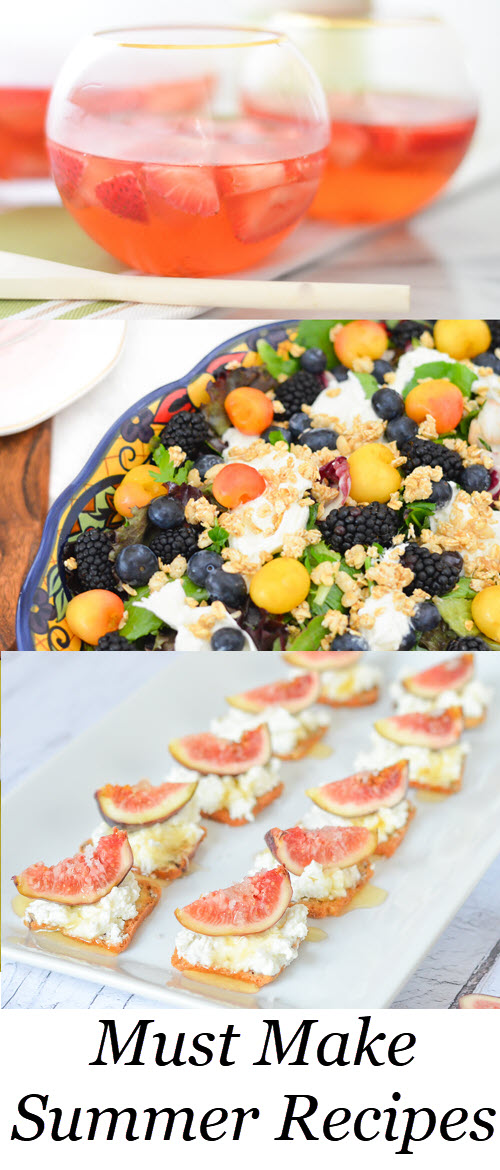 Best Homemade Summer Recipes. Must Make Summer Recipes w. Fresh Figs, Berries, Cherries, + Tomatoes. #recipes #healthy #summer #bbq #potluck #lmrecipes #farmtotable #foodblog #healthy #fitspiration