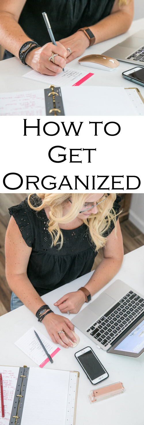 How to Stay Organized as a Blogger | Gold Binder Agenda - Russell + Hazel Mini Binder System Review. #organization #organized #neatfreak #selfemployed #selfhelp #motivation #blogger #bloggerlife #girlboss