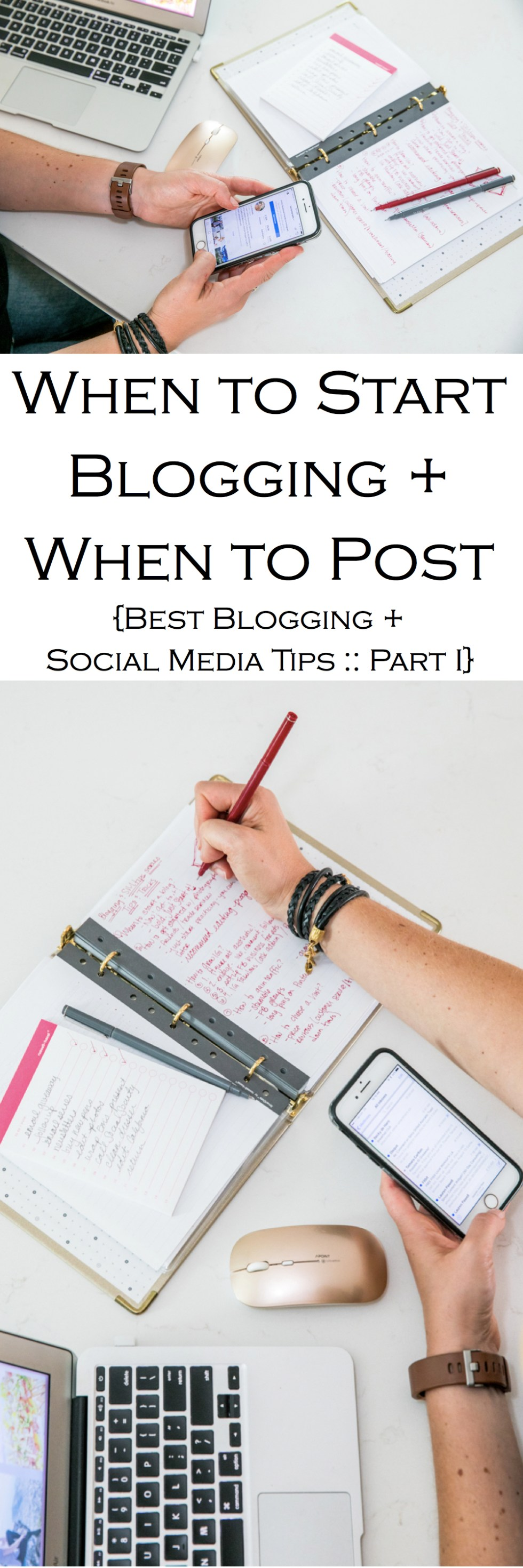 "Want to start a blog but don't know when? Part one of this ""Best Blogging + Social Media Tips Series"" answers when you should start a blog and how often you should post!"