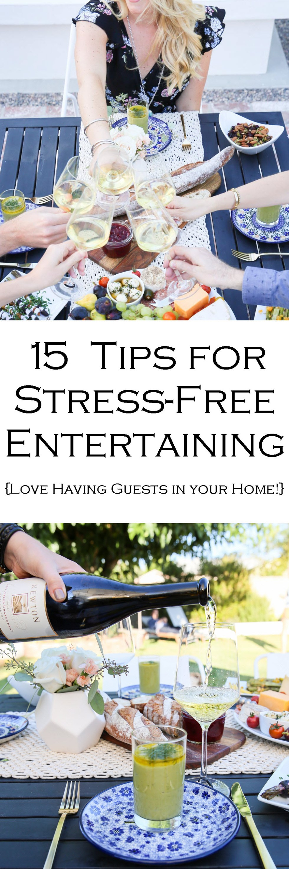 15 Tips for Stress-Free, Easy Entertaining Tips | Dinner Party Guests in Your Home.