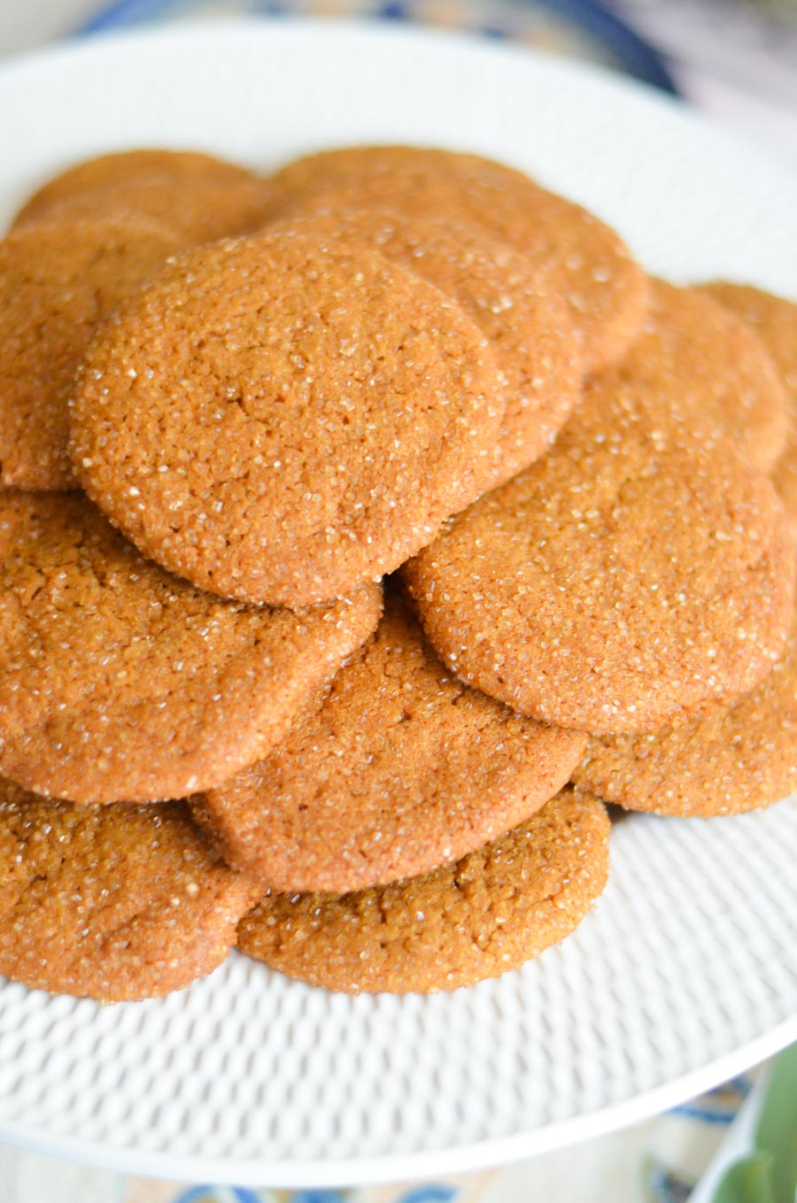 Ginger Cookies on a White platter