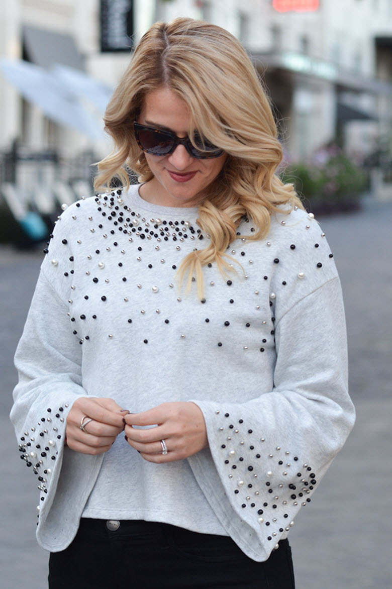 Embellished Bell Sleeve Top Outfit