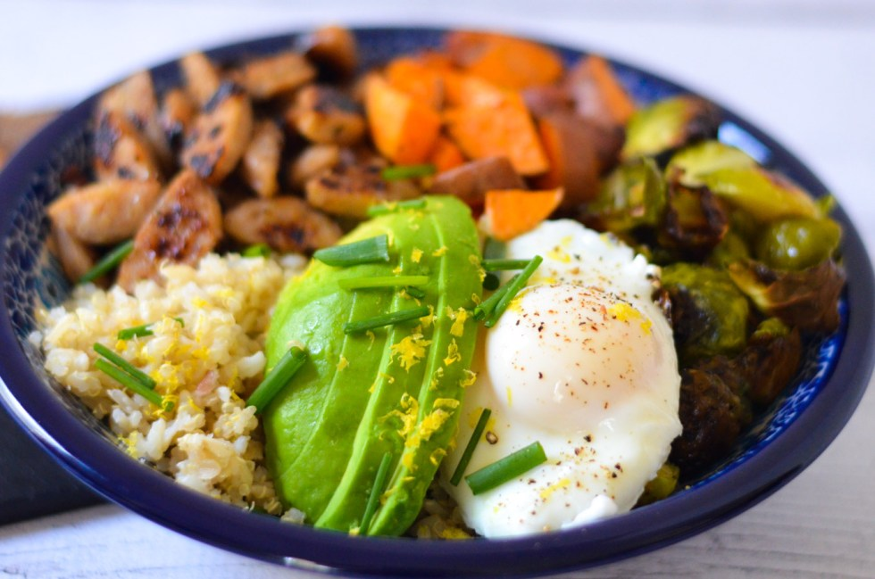 Healthy Sausage Recipe - Chicken Sausage Breakfast Bowl