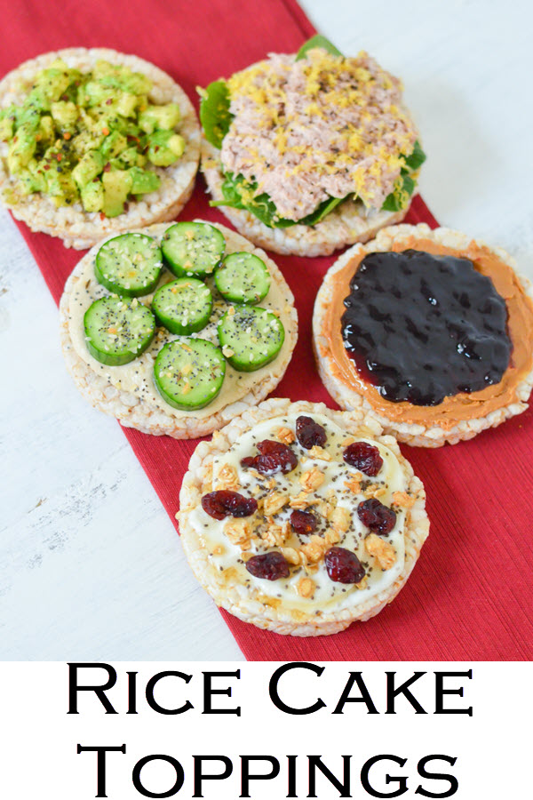 5 Rice Cake Toppings Ideas. Healthy snacks ideas with rice cake toppings ideas. Great snack and small meal ideas with rice cakes!