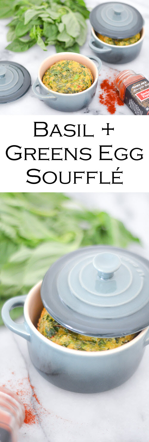 Basil + Greens Egg Soufflé - Mini Le Creuset Dishes
