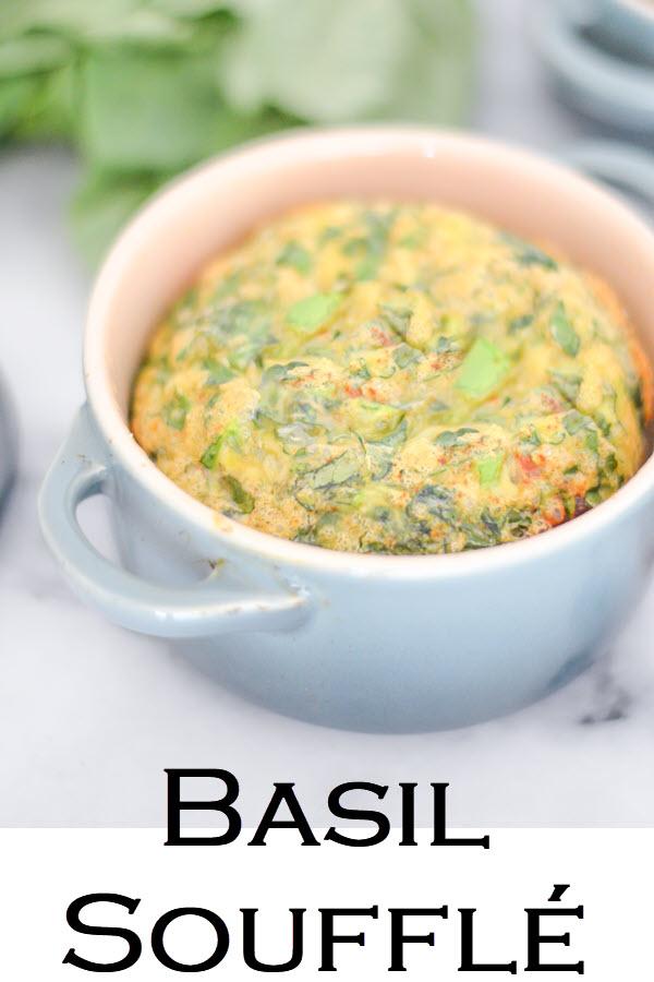 Basil Soufflés - Mini Le Creuset Dishes