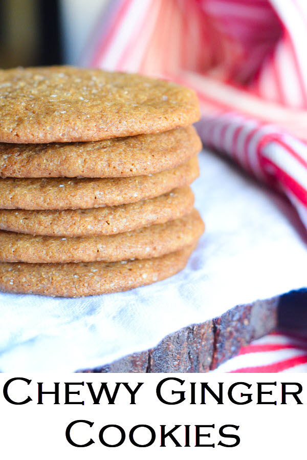 Chewy Ginger Cookies. Soft Ginger Molasses Cookies w. Fresh Ginger.
