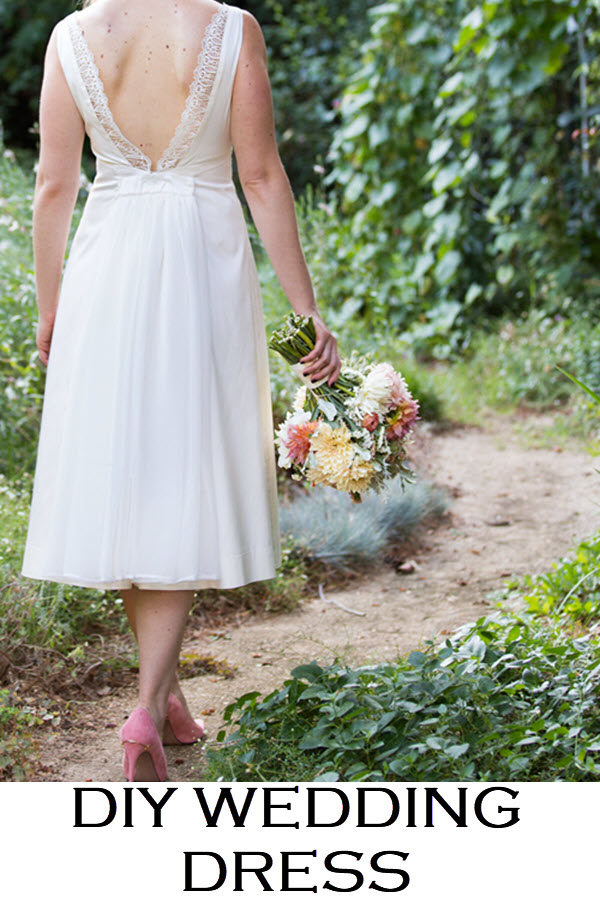 Wondering about Designing Your Own Wedding Dress? This is my short story of my homemade wedding dress, including why I didn't buy my wedding dress and how we designed it.