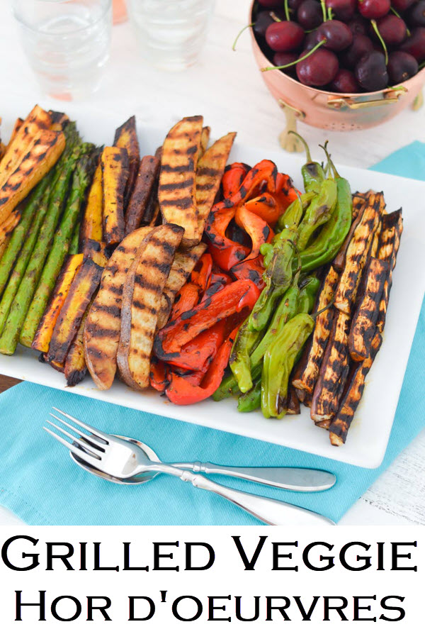 Grilled Veggie Hors d'oeuvres. Make Ahead Grilled Vegetable Hors d'oeuvres. Grilled veggie appetizers are a great easy appetizers for a crowd in the summer. How to Grill Veggies. Make Ahead Entertaining Recipes