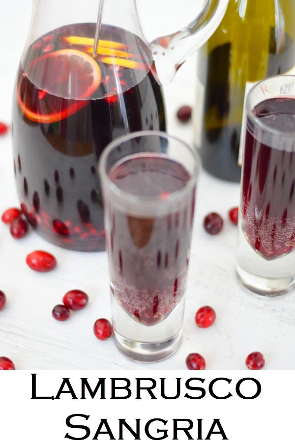 Lambrusco Sangria Recipe. Pomegranate Sangria Recipe. A delicious red Christmas sangria with Lambrusco wine and pomegranates.