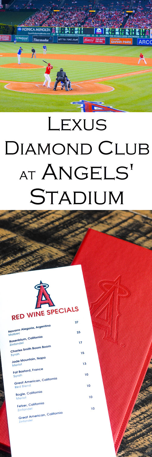 Take a look inside the Lexus Diamond Club at Angel Stadium with these Photos and review of the food. Baseball in Orange County and LA never looked so good. American League Baseball Park highlight!