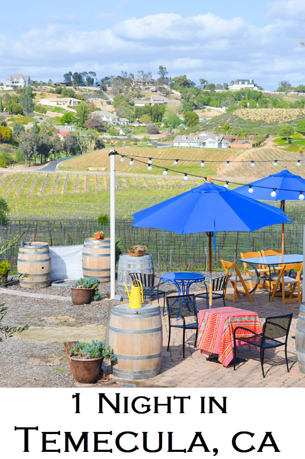 One Night in Temecula, CA Wine Country. Wondering what to do for one night in Temecula - Southern California's wine country? Here's the scoop on where to eat and where to stay in Temecula as well as the best winery for wine tasting without the crowds - off the beaten path.