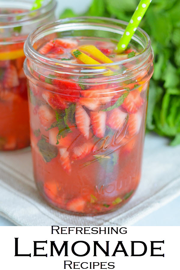 Refreshing Lemonade Recipe Roundup. Lemonade recipes for summer, winter, and spring. Delicious non-alcoholic drinks for kids and grownups. The perfect party drink recipes.