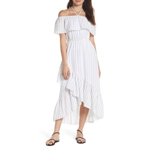 BB Dakota Stripe Ruffle Dress