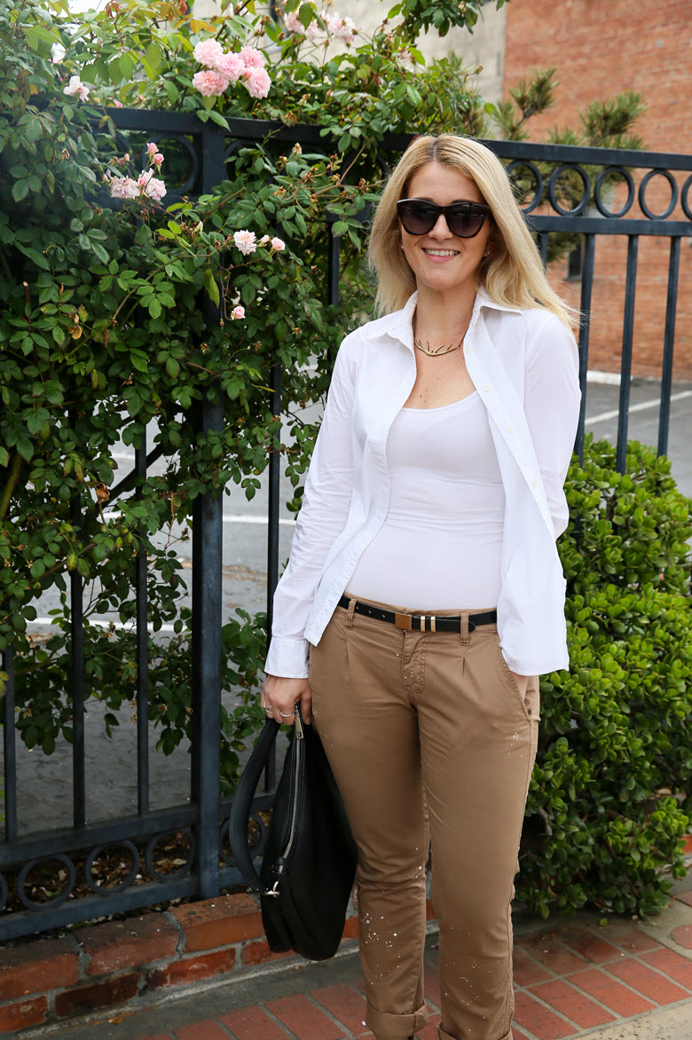 Khaki Pants Outfit for Summer Day to Night