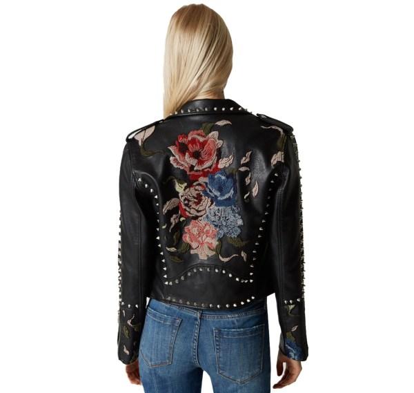 Moto Leather Floral Jacket