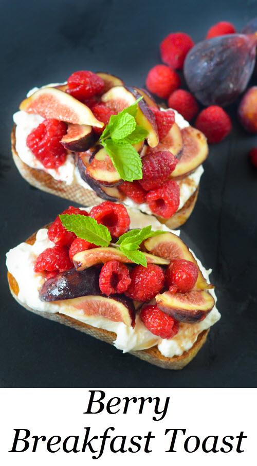 Berry Breakfast Toasts - Burrata Tartine. Fig + Berry Burrata Toasts w. Maple Syrup. #breakfast #brunch #lmrecipes #berries #antioxidant #entertaining #recipes #homemade #foodblog