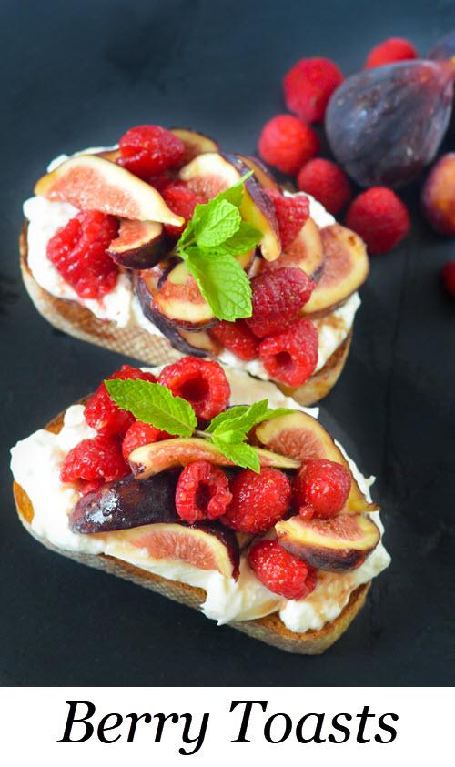 Berry Toasts. Berry Breakfast Toasts - Burrata Tartine. Fig + Berry Burrata Toasts w. Maple Syrup. #breakfast #brunch #lmrecipes #berries #antioxidant #entertaining #recipes #homemade #foodblog