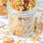 Coconut Granola Recipe. Coconut Sesame Seed Granola Recipe. Enjoy this delicious combination of unsweetened coconut, pumpkin seeds, sunflower seeds, cinnamon, and so much more. Great as a cereal or with yogurt. #lmrecipes #breakfast #brunch #healthy #healthyrecipes #foodblog #foodblogger #homemade