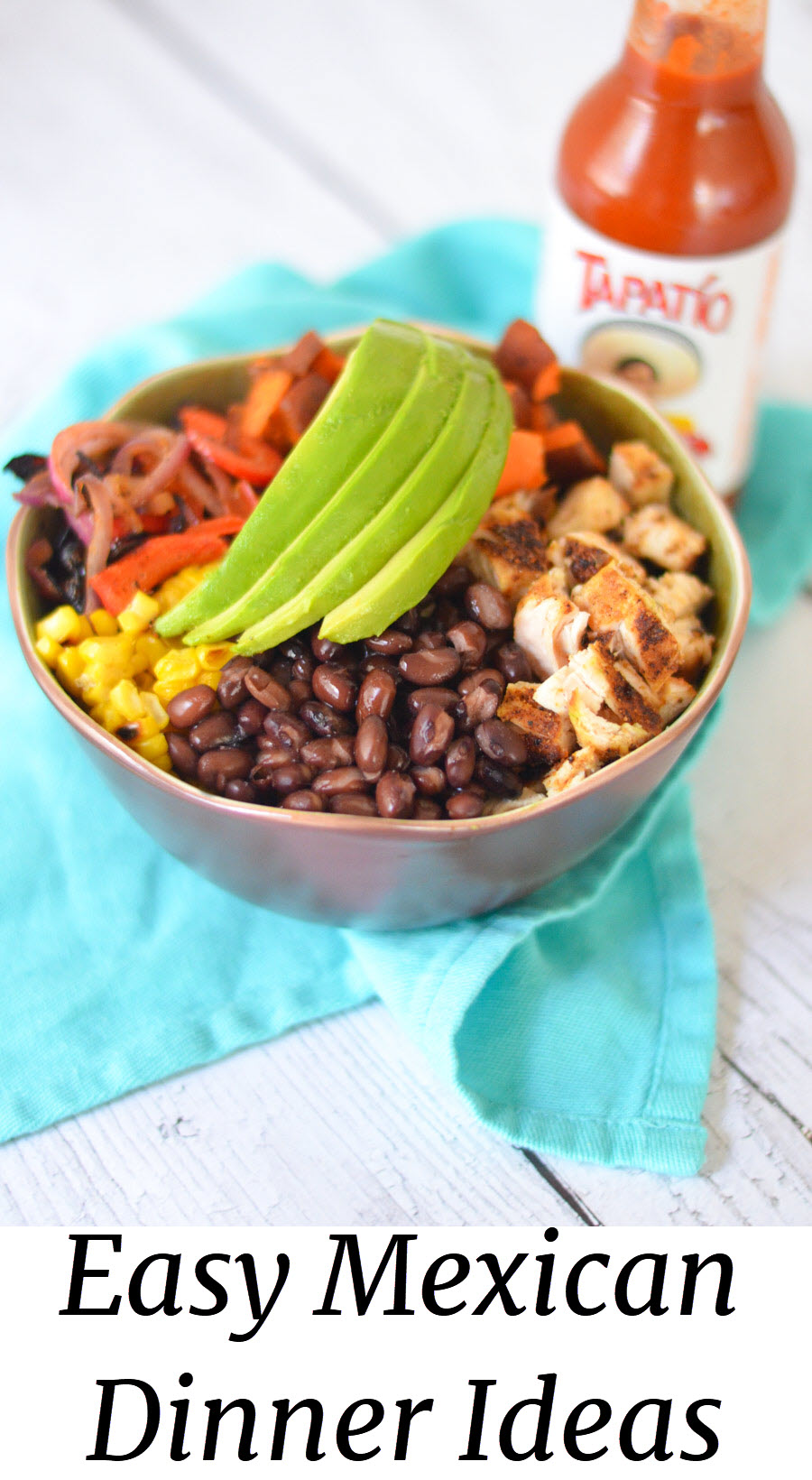 Easy Mexican Dinner Ideas. Cinco de Mayo Mexican-Inspired Balance Bowl Recipe. #mexicanfood #dinnerideas #leftovers #dinner #weeknightdinner #lmrecipes #foodblog #foodblogger