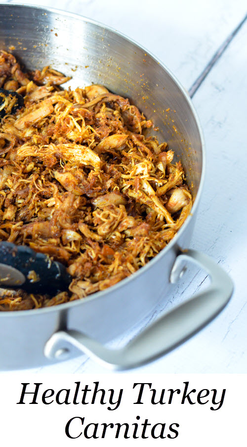 Leftover Turkey Carnitas Recipe. Great way to use up leftover chicken or turkey. This health carnitas recipe will everyone's favorite dinner recipe. #LMrecipes #turkey #carnitas #thanksgiving #thanksgivingleftovers #mexicanfood #foodblog #foodblogger