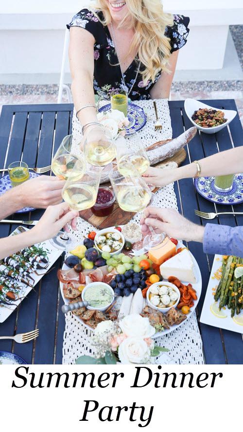 al fresco Dinner Party Menu, Setup Tips. Easy, Late Summer Dinner Party Menu, Setup Tips w Make-Ahead Recipes #dinnerparty #dinner #makeahead #makeaheadrecipes #recipes #healthy #summer #entertainig #hostess #lmrecipes