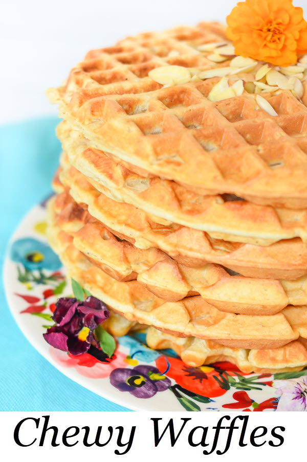 Chewy Waffles w. Cardamom + Honey make for an easy but decadent tasting breakfast. Invite friends over for brunch or just enjoy them on your own! #breakfast #brunch #waffles #recipe #foodblog #foodblogger #lmrecipes