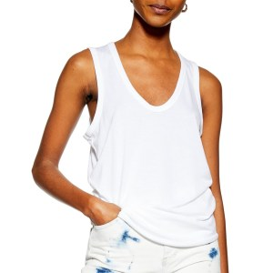 U-Neck White Tank Top