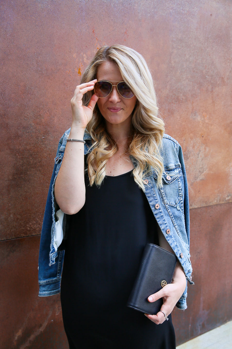 Black Slip Dress Outfit w. Jacket