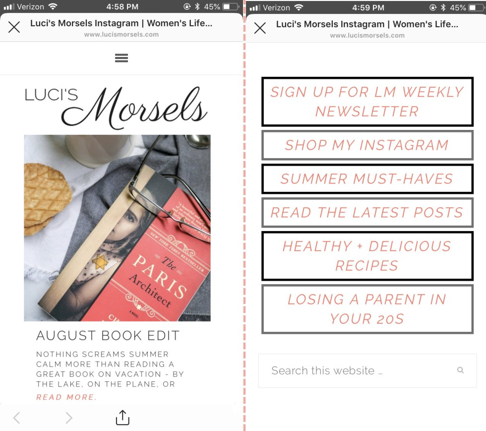 Why You Need an Instagram Landing Page for Fashion, Food Blogger