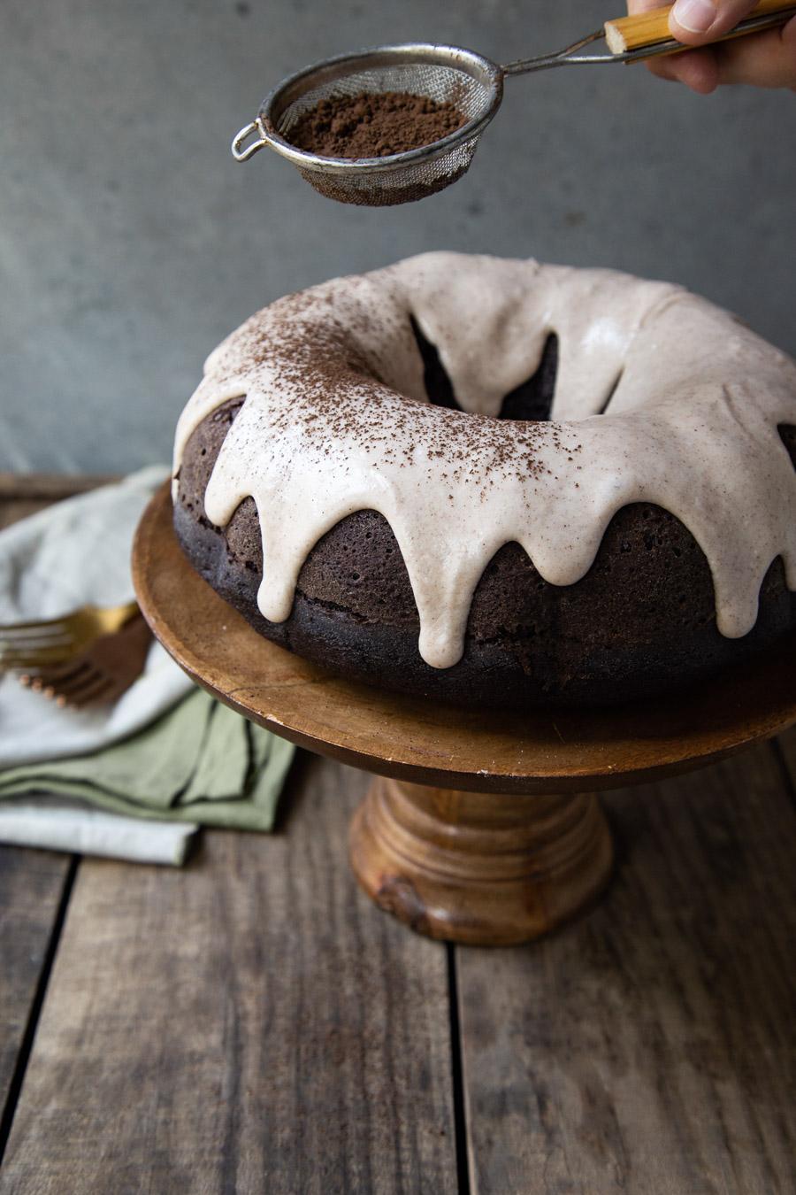 Mexican Chocolate Cake with Cinnamon Glaze