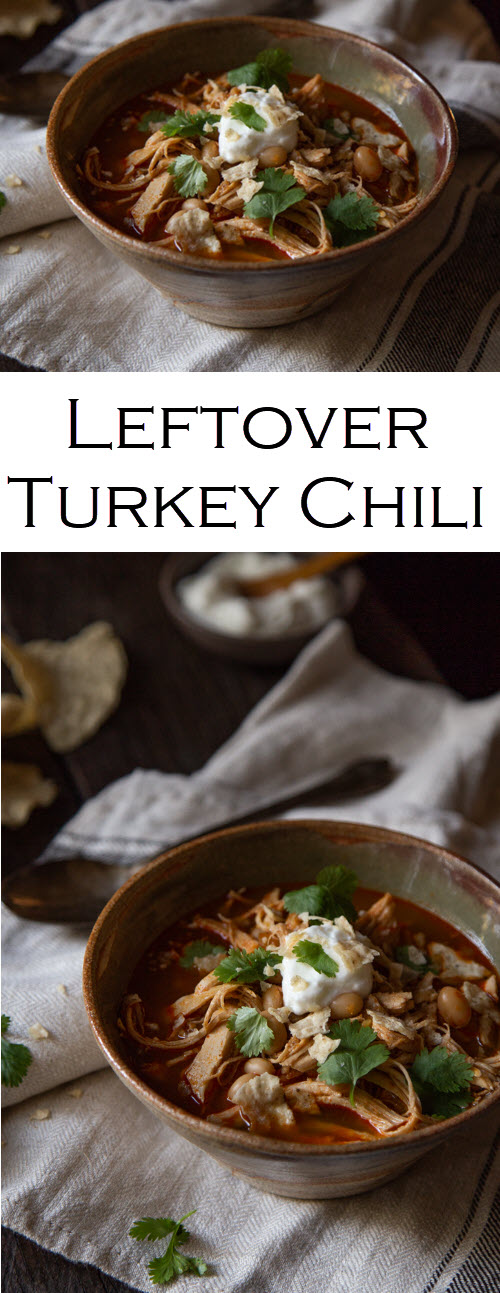 Leftover Turkey Chili Recipe. Thanksgiving leftover recipe for dinner. This white bean chili recipe is perfect for chicken and turkey leftovers at Thanksgiving and Christmas. #lmrecipe #chili #soup #leftovers #chili #soup #whitebeanchili #turkeychili #dinner #dinnerideas