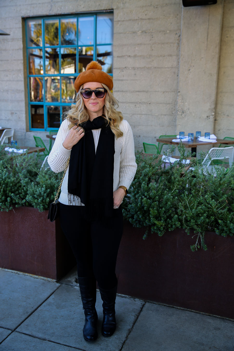 How to Wear a Beret with Pom Pom